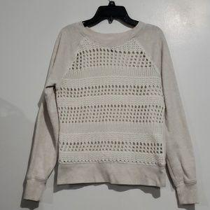 Aerie Oatmeal Colored Super Soft Sweater Sz M
